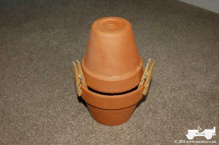 And Clay Pot Candle Heater